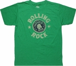Rolling Rock Logo T Shirt Sheer