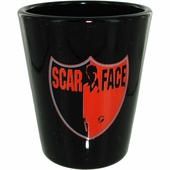 Scarface Shield Shot Glass