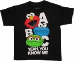 Sesame Street ABC Yeah You Know Me Juvenile T Shirt