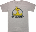 Sesame Street Big Bird Wingman T Shirt Sheer