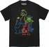 Sesame Street Neon Outline Quad T Shirt