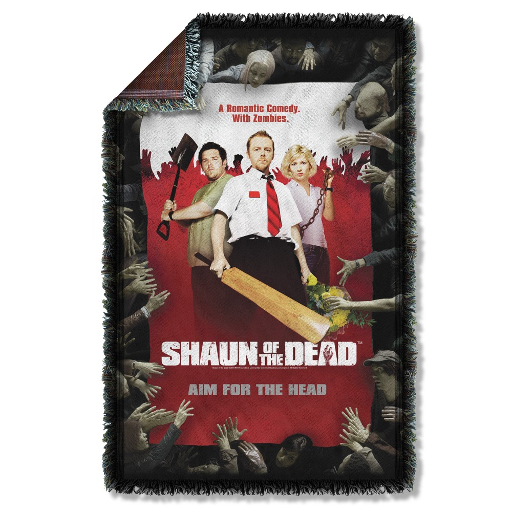 Shaun Of The Dead Poster Throw Blanket