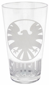 Shield Logo Etched Pint Glass