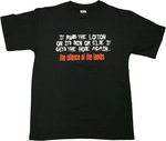 Silence of the Lambs Lotion T-Shirt