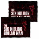 Six Million Dollar Man Logo FB Pillow Case