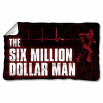 Six Million Dollar Man Logo Fleece Blanket