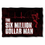 Six Million Dollar Man Logo Pillow Case