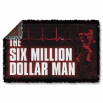Six Million Dollar Man Logo Throw Blanket