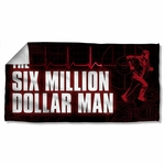 Six Million Dollar Man Logo Towel