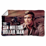 Six Million Dollar Man Steve Austin Fleece Blanket