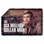 Six Million Dollar Man Steve Austin Throw Blanket