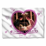 Sixteen Candles Heart Pillow Case