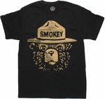 Smokey Bear Head T Shirt