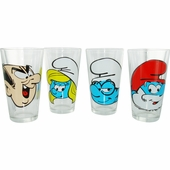 Smurfs Heads Pint Glass Set