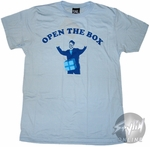 SNL Dick in a Box Blue T-Shirt Sheer