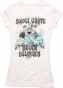 Snow White Sketch Ink Drip Baby Tee