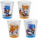 Sonic the Hedgehog and Tails 16 Bit Shot Glass Set