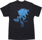 Sonic the Hedgehog Blue Vintage T Shirt