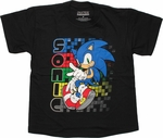 Sonic the Hedgehog Name Trails Youth T Shirt