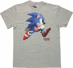 Sonic the Hedgehog Pixel Run T Shirt