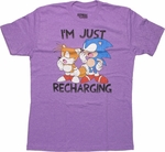 Sonic the Hedgehog Recharging T Shirt