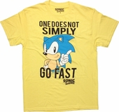 Sonic the Hedgehog Simply Go Fast T Shirt