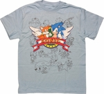 Sonic the Hedgehog Title Line Art Youth T Shirt