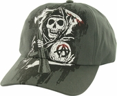 Sons of Anarchy Fear Reaper Charcoal Flex Hat