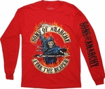 Sons of Anarchy Fear Reaper Flames Long Sleeve T Shirt