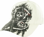 Sons of Anarchy Fear Reaper White Flex Hat
