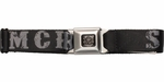Sons of Anarchy Gray SAMCRO Black Seatbelt Mesh Belt