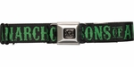 Sons of Anarchy Green Title and Logo Seatbelt Mesh Belt