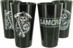 Sons of Anarchy Mixed Black Pint Glass Set