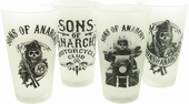 Sons of Anarchy Mixed Frosted Pint Glass Set