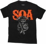 Sons of Anarchy Orange SOA Reaper T Shirt