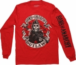 Sons of Anarchy Outlaw Red Long Sleeve T Shirt