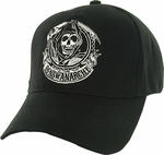 Sons of Anarchy Reaper Badge Flex Hat