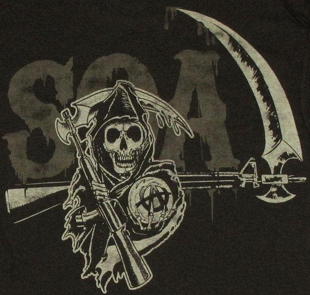 Sons of Anarchy Reaper Crew T Shirt Sons Of Anarchy Reaper