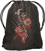 Sons of Anarchy Reaper Flag Drawstring Backpack