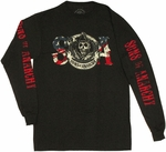 Sons of Anarchy Reaper Flag Long Sleeve T Shirt