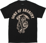 Sons of Anarchy Reaper Logo Black T Shirt