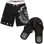 Sons of Anarchy Reaper Sandals Shorts Combo