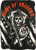 Sons of Anarchy Reaper Stars Stripes Blanket