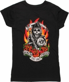 Sons of Anarchy SAMCRO Flame Baby Tee