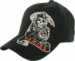 Sons of Anarchy Side Reaper Embroidered Flex Hat