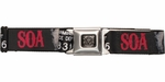 Sons of Anarchy SOA Charming Police Dept Seatbelt Mesh Belt