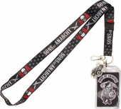 Sons of Anarchy Stars Reaper Charm Lanyard