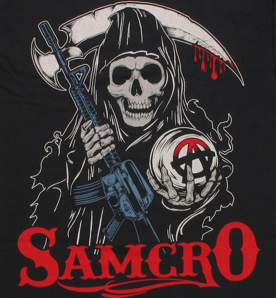 sons of anarchy stylized reaper t shirt