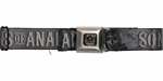 Sons of Anarchy Title and Logo Gray Seatbelt Mesh Belt