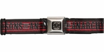 Sons of Anarchy Title Black and Red Stripes Seatbelt Mesh Belt